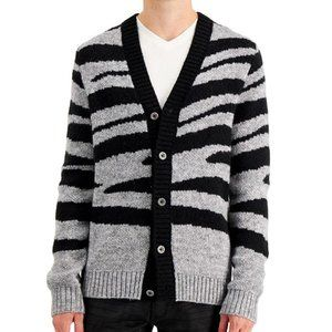 INC International Concepts Men's Zebra Cardigan